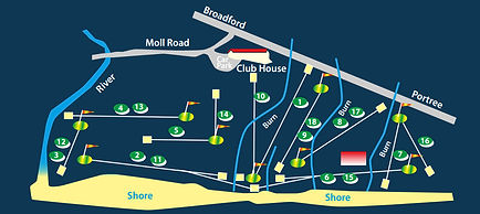 Isle of Skye Golf Club - course layout