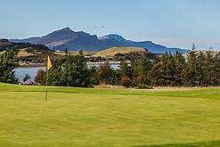 Isle of Skye Golf Club - view across the 9th / 18th green