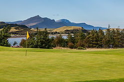 Isle of Skye Golf Club - view across the 9th / 18th green
