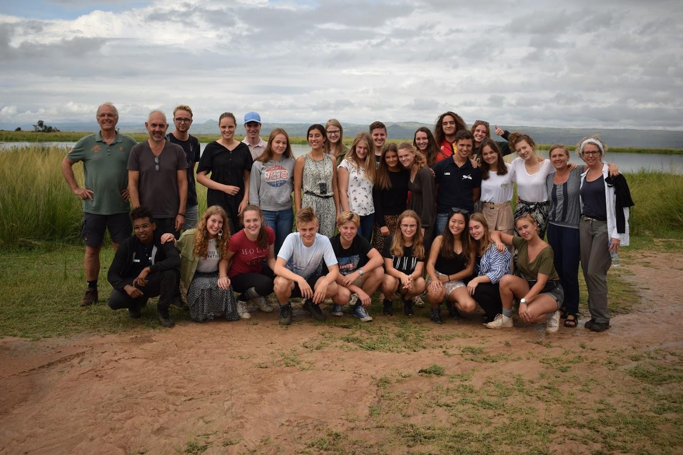 safari groepsfoto