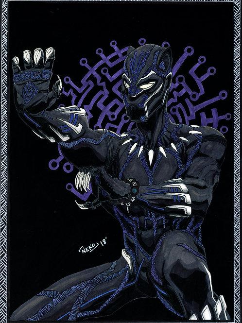 """Black Panther (Tiger Style)"" Print"
