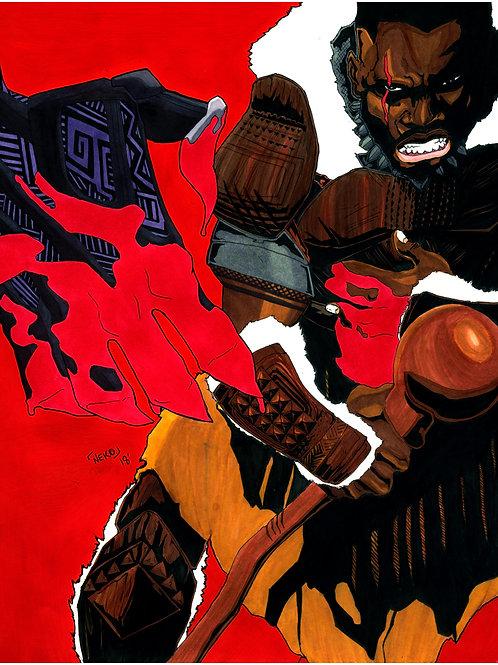 """M'Baku vs Black Panther"" (Print)"