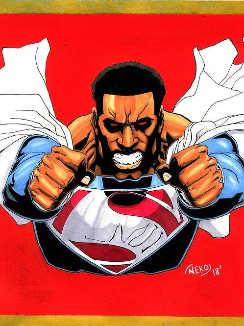 """Black Superman"" Print"