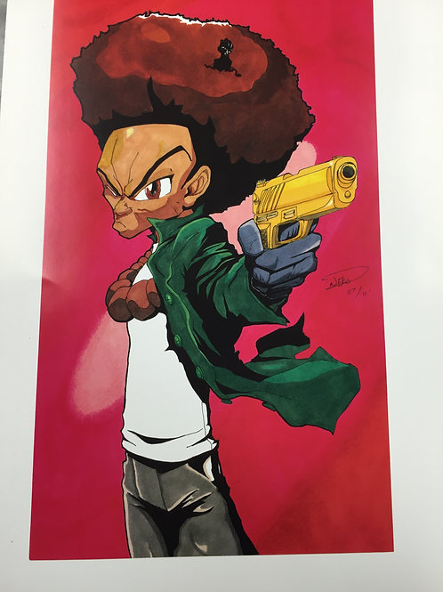 """Brother with the Golden Gun"" Print"