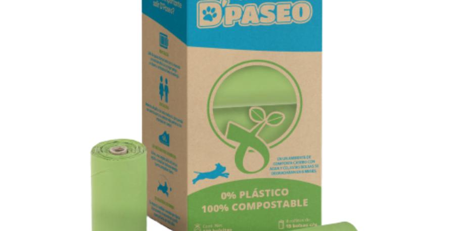 Caja con 8 rollitos compostable