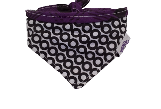 Bandana Tender ciculos/morado diseño