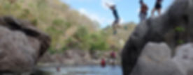 Free jumping in the Rio Tapacali Somoto Canyon