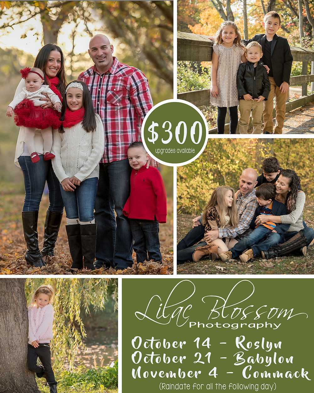 Fall and holiday family portraits on location on Long Island