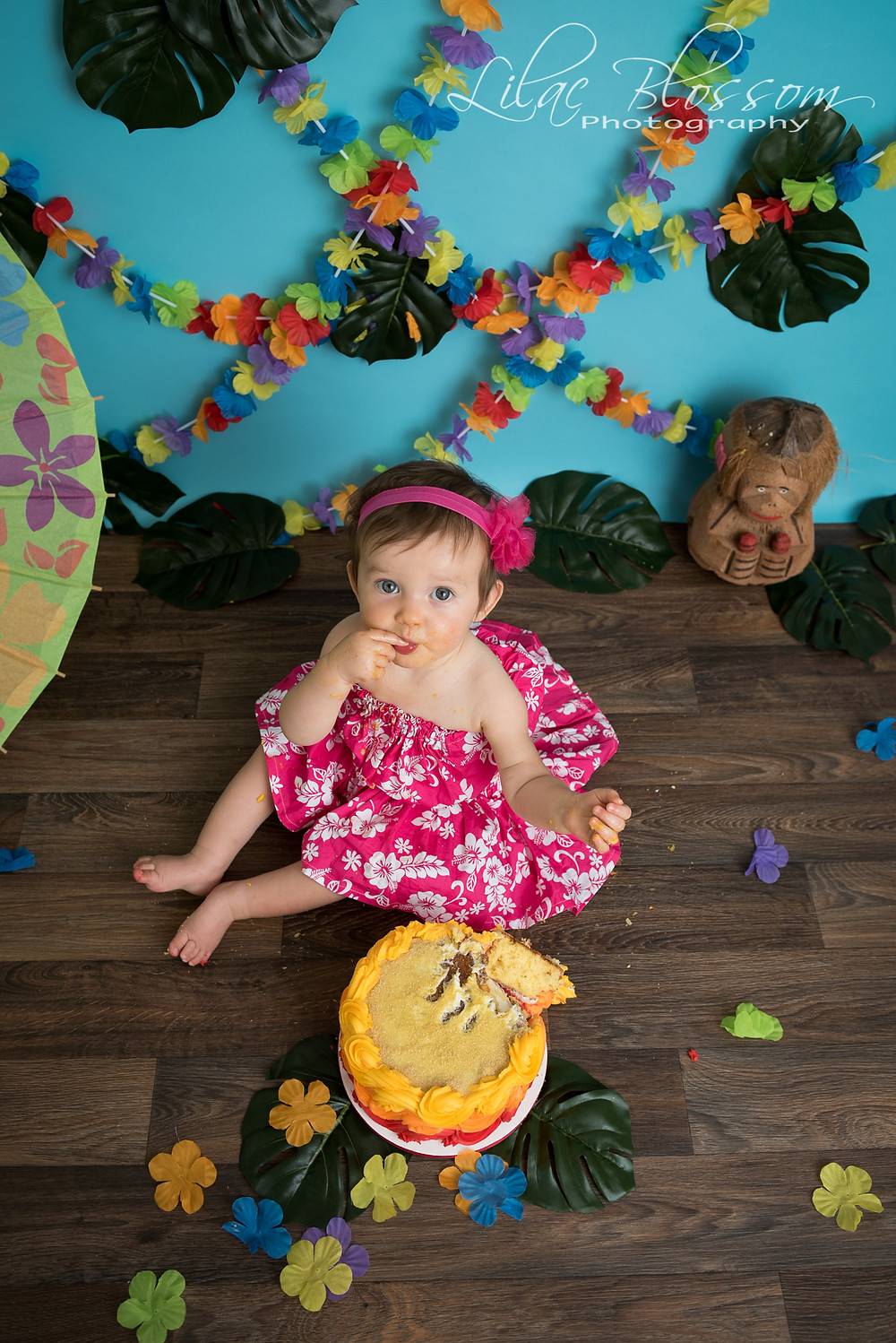 1st birthday cake smash session on Long Island