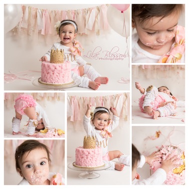 Cake smash photos mark the 1st year milestone