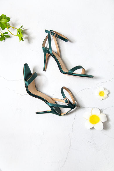 green-and-brown-peep-toe-heeled-sandals-