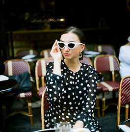 woman-wearing-polka-dots-long-sleeved-to
