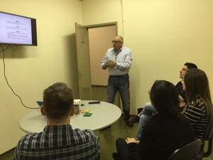 Mauricio Andrioli apresenta a Engrenar e as iniciativas de fomento à pesquisa