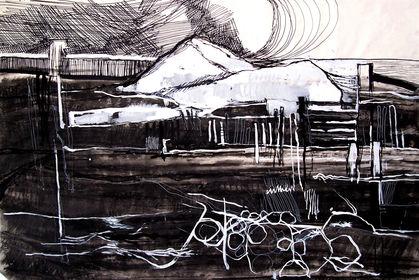 Norfolk Landscape 01 charcoal paint .jpg