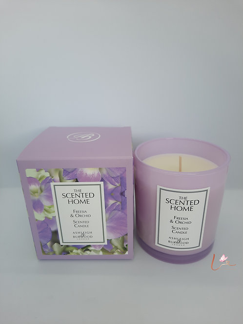 Geurkaars Scented Home in glazen pot Freesia & orchid (225g)