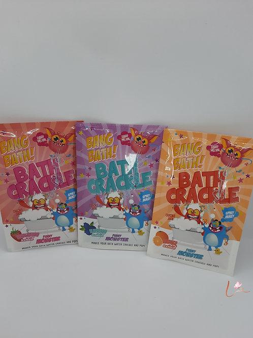 Bath Crackles Funny Monsters
