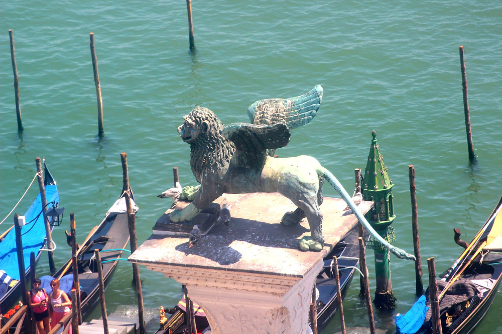 statue of winged lion from St. Mark's square