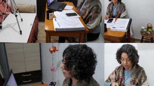 Cobertura multimídia registra aulas online da Atha Virya