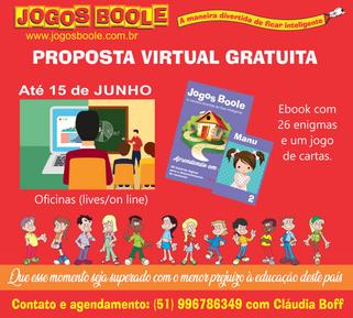 Jogos Boole disponibiliza e-book grátis e oficinas grátis até 15/06