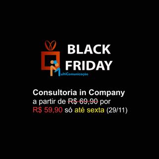 Consultoria in company com mais de 10% de desconto na Black Friday