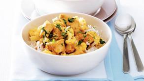 Veganistisch recept: bloemkool curry met honingrijst