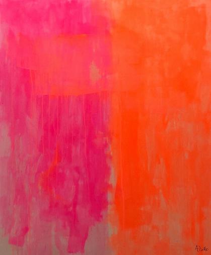 Alyssa Dabbs (b.1998). Boom. Acrylic on canvas, 120 x 100 cm.
