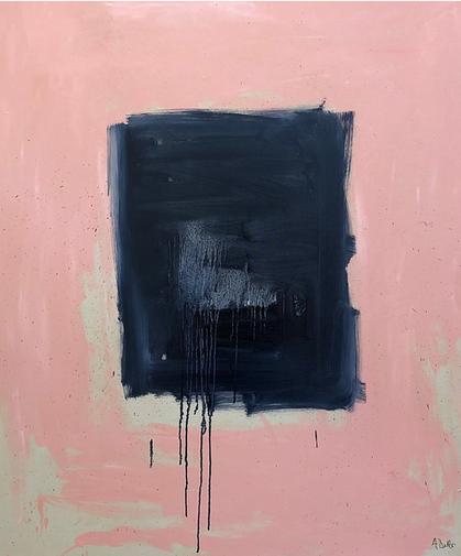 Alyssa Dabbs (b.1998). Teckel. Oil on canvas, 150 x 100 cm.