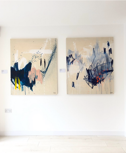 Paintings by Alyssa Dabbs (b.1998) shown in Fence Gallery