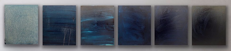 Alyssa Dabbs (b.1998). To the Depths. Oil on canvas, 39 x 32.5 cm (per canvas).