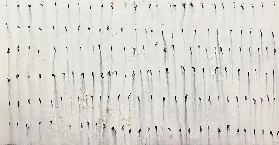 Alyssa Dabbs (b.1998). The Race. Oil on canvas, 120 x 244 cm.