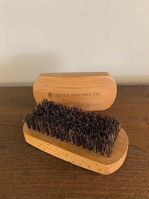 Brosse à barbe/ Beard Brush (Wood/bois) Crown Shaving Co