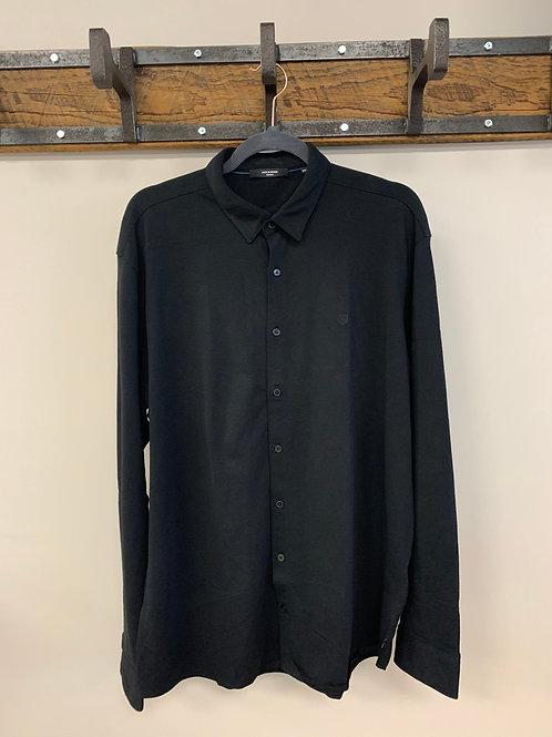 Chandail Style Chemise Noir / Black Dress Shirt Jack & Jones