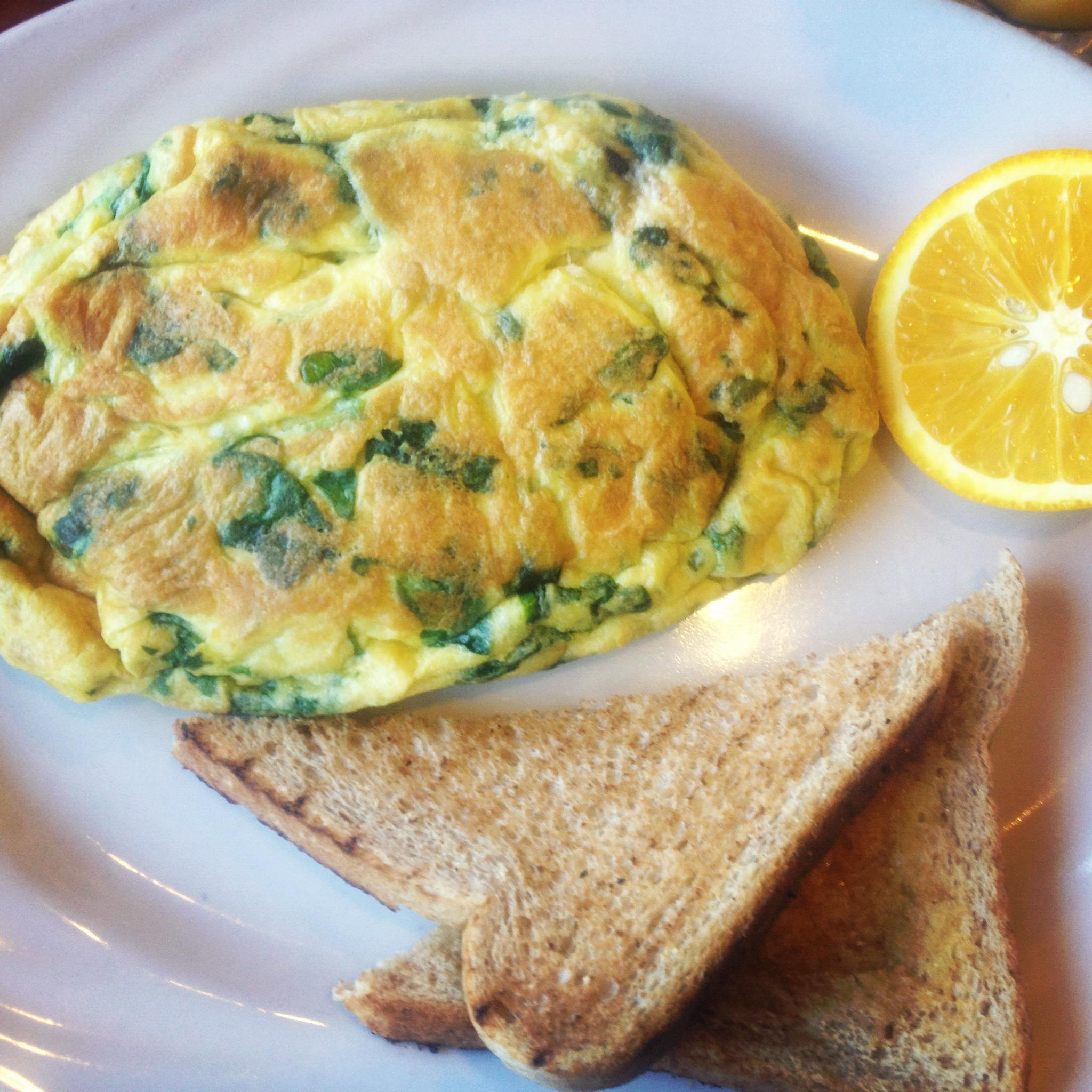 Mini Spinach & Feta Omelet