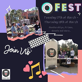 ✨Monash O-FEST is BACK✨_Whether you are
