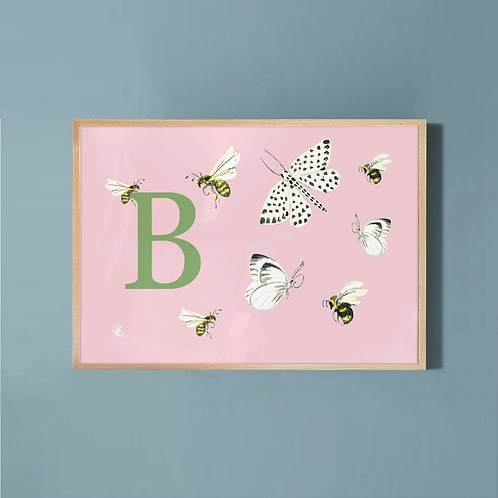 Butterflies & Bees-Pink