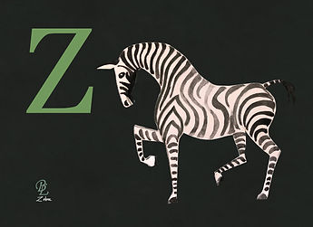 Artwork Zebra plain background.jpg