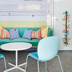 fargesetting, innredning og styling av undersøkelsesrom på barnesenteret til Ullevål, for FargerikFargesetting, innredning og styling av undersøkelsesrom på barnesenteret til Ullevål, for Fargerike