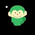 緑色の猿のキャラクター