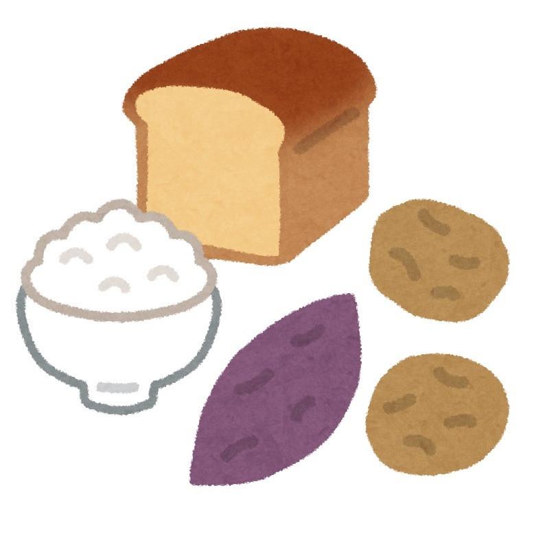 糖質が含まれる食材のイラスト