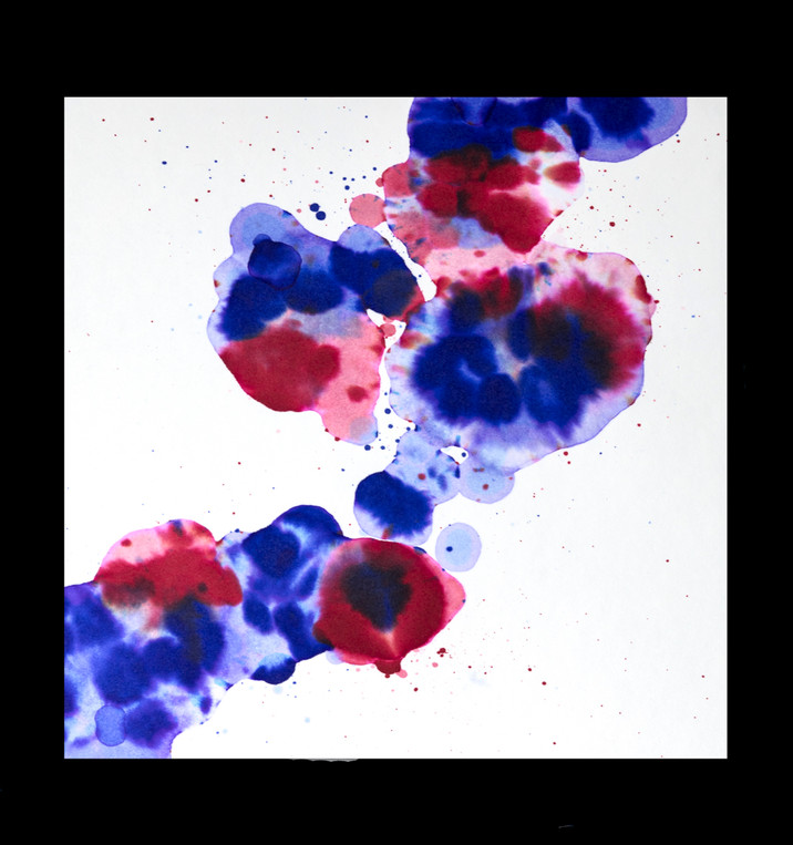 Ink on blotting paper
