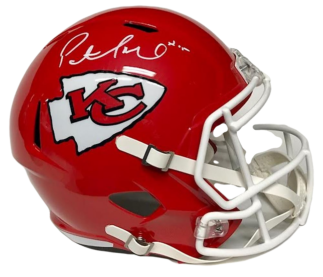 Patrick Mahomes signed Authentic Speed Helmet