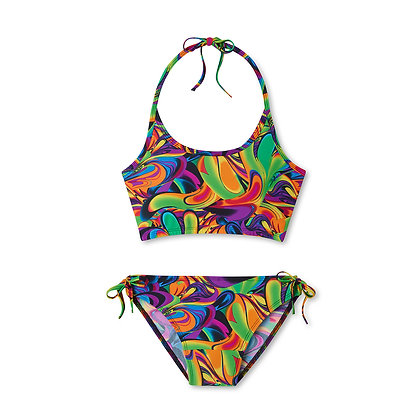 Period Swimwear Tank Set (Watercolor Tropics)