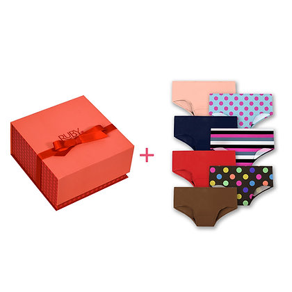 first period kit and 7 teen underwear bundle