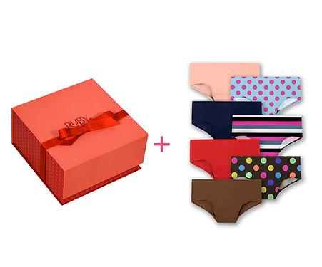 First Period Kit + 7pc Teen Period Underwear Hipster Bundle