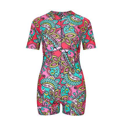 Period Swimwear Skinsuit | Paisley Beach
