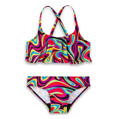 Period Swimwear Ruffle Set (Peace Out)