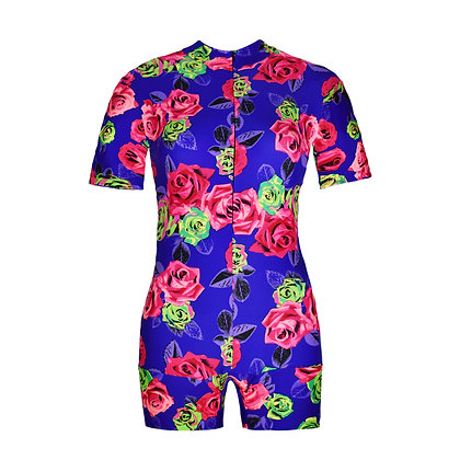Period Swimwear Skinsuit | Floral Vacation