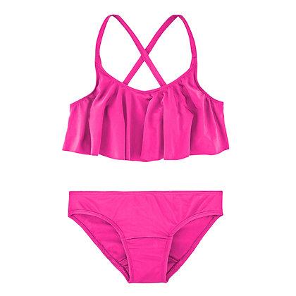 Teen Period Swimwear Ruffle Set (French Riviera)