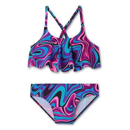 Teen Period Swimwear Ruffle Set (Groovy Getaway)