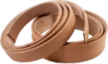 Oak Tanned Flat and Round Leather Drive Belt